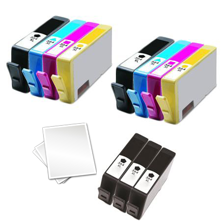 564XLBK/C/M/Y 2 Full set + 3 EXTRA Black Remanufactured Inks (Free Paper)