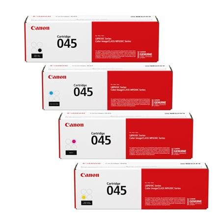 Canon 045BK/C/M/Y Full Set Original Standard Capacity Toner Cartridges