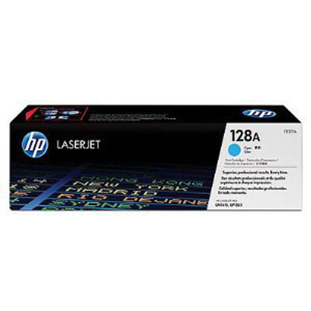 HP 128A Cyan Original Toner Cartridge (CE321A)