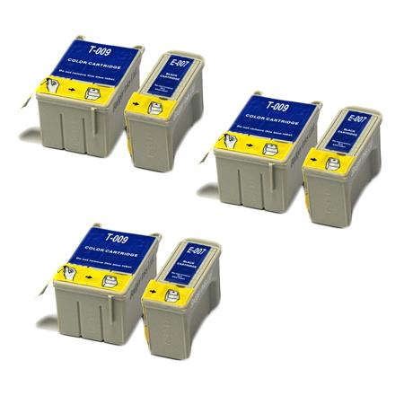 Compatible Multipack Epson T007/T009 3 Full Sets Ink Cartridges