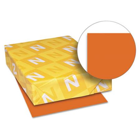 Wausau Paper Astrobrights Colored Paper  24lb  8-1/2 x 11  Orbit Orange  500 Sheets/Ream