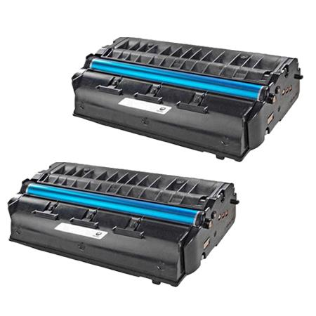 406465 Black Remanufactured Toner Cartridge Twin Pack
