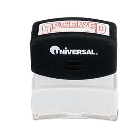 Universal Message Stamp  RECEIVED  Pre-Inked/Re-Inkable  Red