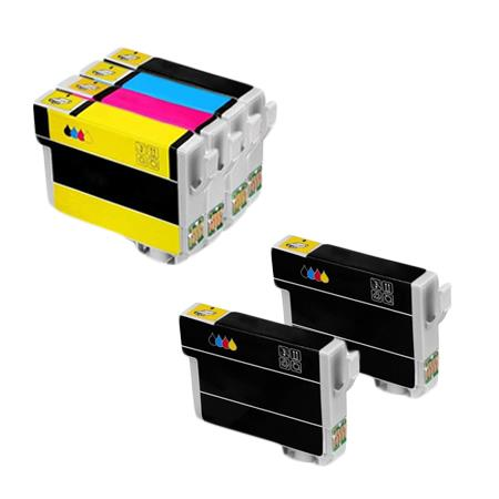 Clickinks 288XL Full Set + 2 EXTRA Black Remanufactured Inks