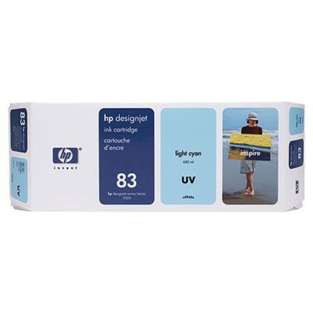 HP 83 Original Light Cyan UV Ink Cartridge (C4944A)