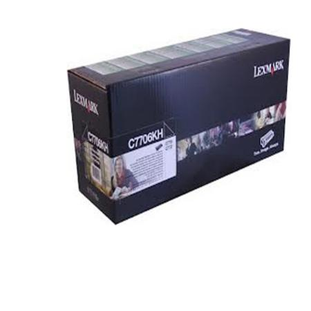 Lexmark C7706KH Original Black High Yield Return Program Laser Toner Cartridge