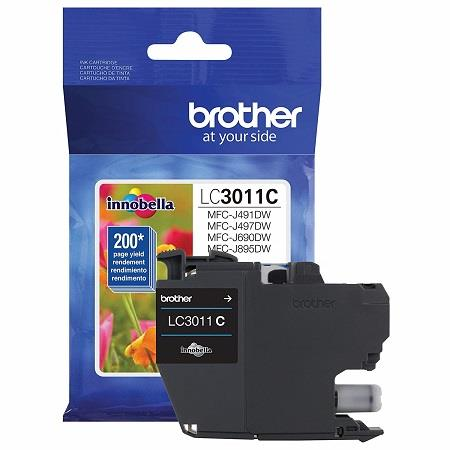 Brother LC3011C Cyan Original Standard Capacity Ink Cartridge
