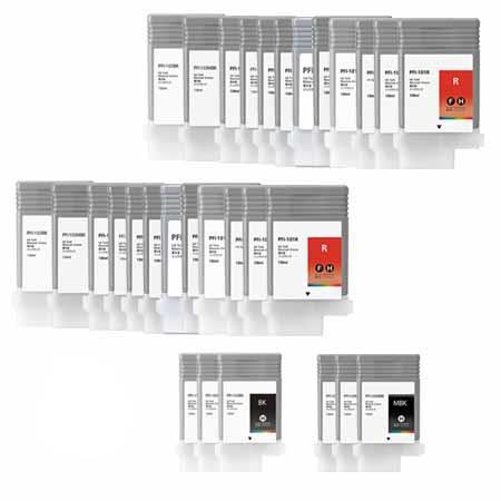 PFI-103 2 Full Sets + 6 EXTRA Black Remanufactured Inks