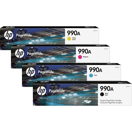 HP 990A Full Set Standard Capacity Original PageWide Inks