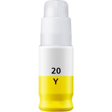 Compatible Yellow Canon GI-20Y Ink Bottle (Replaces Canon 3396C001)