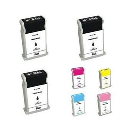 BCI-1302 BK/C/M/Y/LC/LM Full Set + 2 EXTRA Black Compatible Inks
