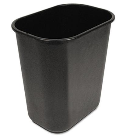 UNISAN Soft-Sided Wastebasket 28 qt Black