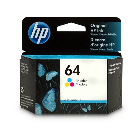 HP 64 (N9J89AN) Tri-Color Original Standard Capacity Ink Cartridge