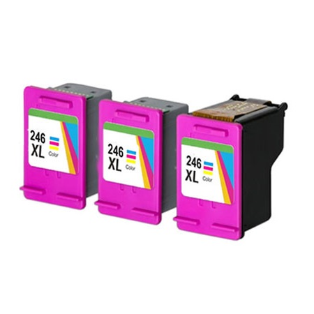 Compatible Color Canon CL-246XL Ink Multipack (Replaces 3 x 8280B001 + 1 x Printhead)