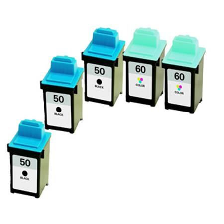 Clickinks No.50/No.60 2 Full Sets + 1 EXTRA Black Remanufactured Ink