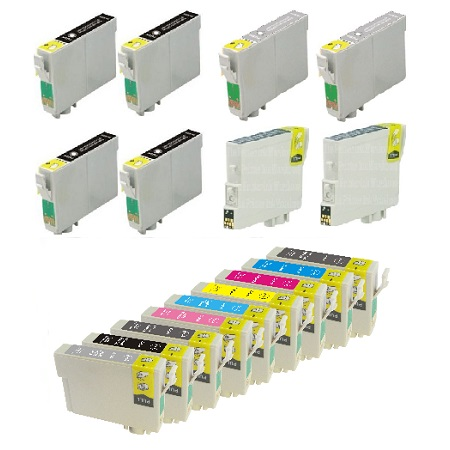 T0961/969 Full Set + 8 EXTRA Photo/Light/Matte/Light Light Black Remanufactured Inks