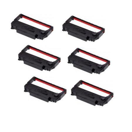 Epson ERC-30/34/38 Black and Red Compatible Printer Ribbon (6 pack)