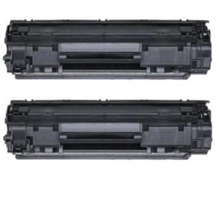 125 Black Remanufactured Toner Cartridges Twin Pack