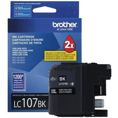 Brother LC107BK Black Original Extra High Capacity Ink Cartridge