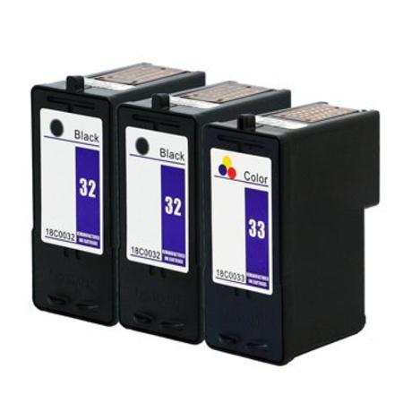 Clickinks No.32/No.33 Full Set + 1 EXTRA Black Remanufactured Ink