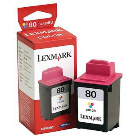 Lexmark No. 80 (12A1980) Color Original Print Cartridge