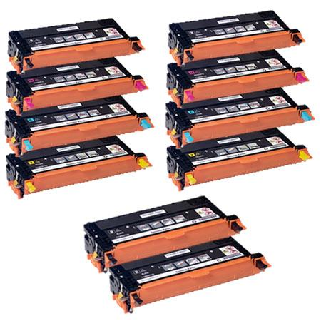 Clickinks 113R00723/4/5/6 2 Full Sets + 2 EXTRA Black Remanufactured Toner Cartridges