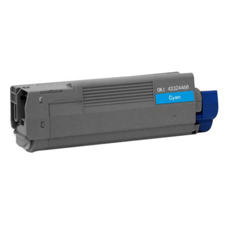 Compatible Cyan Oki 43324468 Toner Cartridge