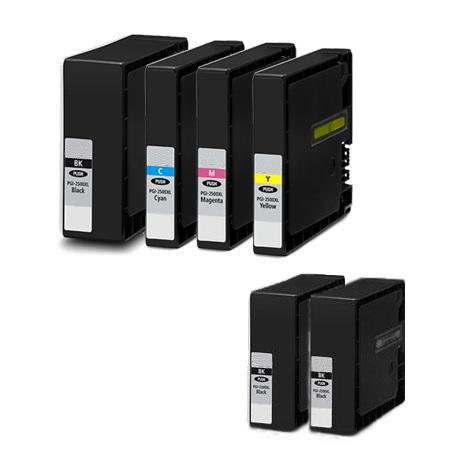 Compatible Multipack Canon PGI-2200XL Full Set + 2 EXTRABlack Inkjet Cartridges