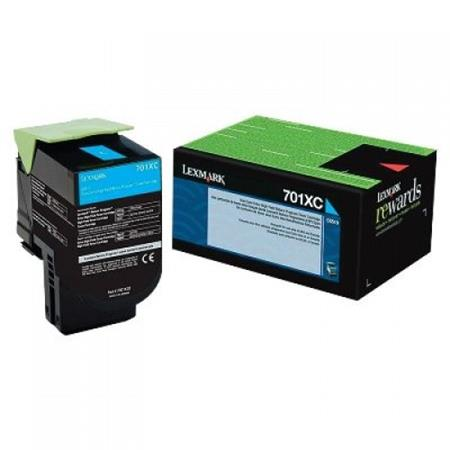 Lexmark 70C1XC0 Cyan Original Extra High Capacity Return Program Toner Cartridge