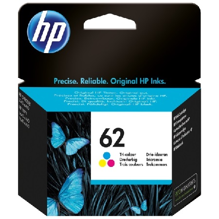 HP 62 Color Original Ink Cartridge (C2P06AN)