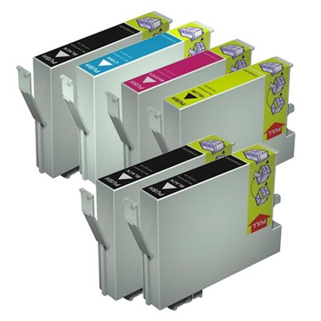 Compatible Multipack Epson T0431/424  Full Set + 2 EXTRA Black Ink Cartridges