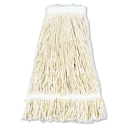 UNISAN Pro Loop Web/Tailband Wet Mop Head  Cotton  24-oz.  White