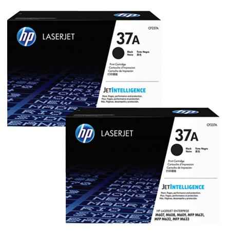 HP 37A Black Original Standard Capacity Toner Cartridges Twin Pack
