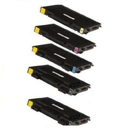 Compatible Multipack Samsung CLP-500 Full Set + 1 EXTRA Black Toner Cartridges