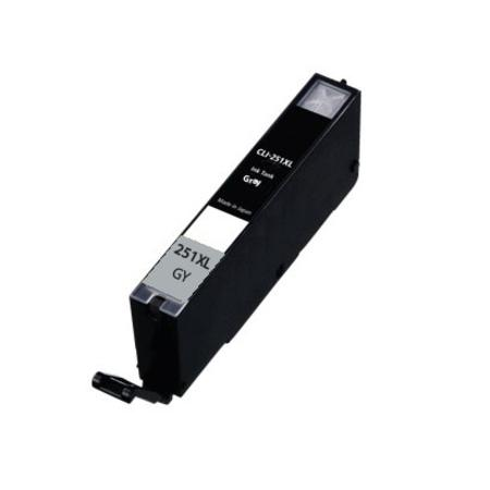 Compatible Grey Canon CLI-251XLGY Ink Cartridge (Replaces Canon 6452B001)