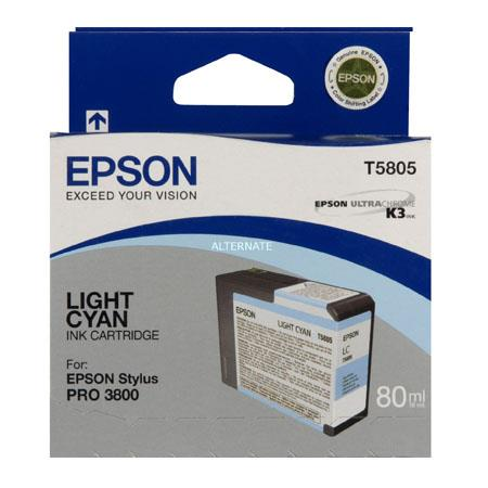 Epson T5805 (T580500) Original Light Cyan Ink Cartridge