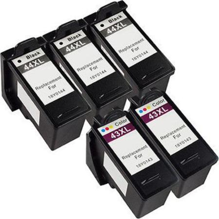 Clickinks No.44XL/No.43XL 2 Full Sets + 1 EXTRA Black Remanufactured Ink