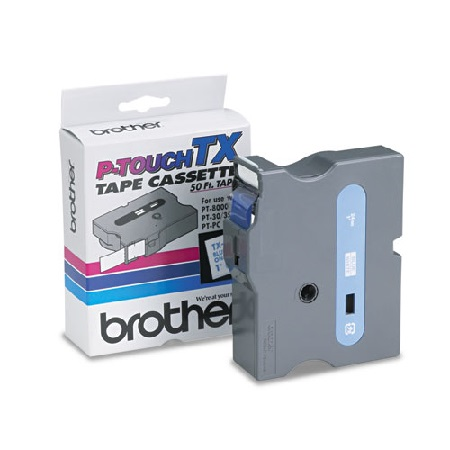Brother 1 TX2531 Original P-Touch Label Tape - 1 x 50 ft (24mm x 15m) Blue on White