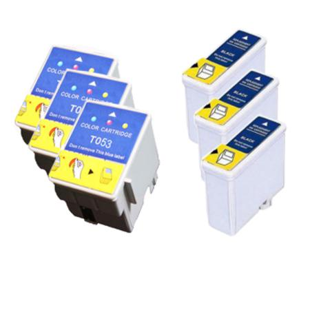 Compatible Multipack Epson T050/T052 3 Full Sets Ink Cartridges