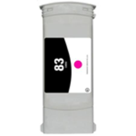 Compatible Magenta HP 83 High Yield Pigment Ink Cartridge (Replaces HP C4942A) (680ml)