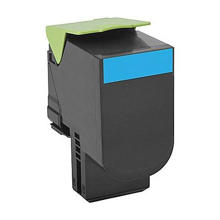 Lexmark 80C1XC0 Cyan Remanufactured Extra High Capacity Toner Cartridge