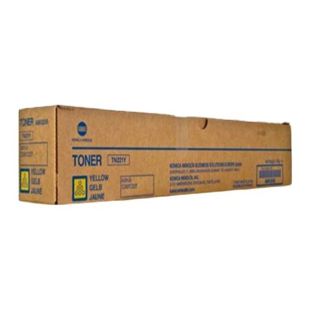 Konica Minolta TN-221Y Yellow Original Toner Cartridge (A8K3230)