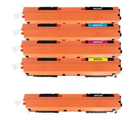 130A Full Set + 1 EXTRA Black Remanufactured Toner Cartridge