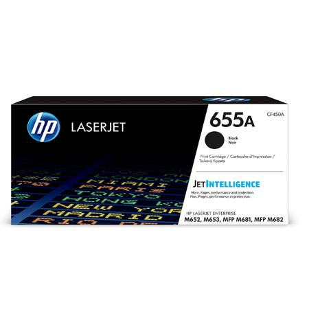 HP 655A (CF450A) Black Original Standard Capacity Toner Cartridge