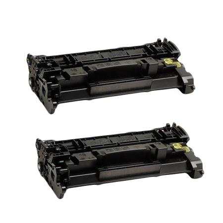 Compatible Twin Pack HP 89A (CF289A) Black Standard Capacity Toner Cartridges