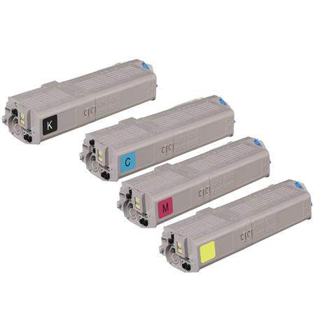 Okidata 46490601/46490604 Full Set Original Toner Cartridges