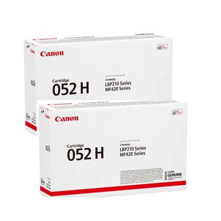 Canon 052H Black Original High Capacity Toner Cartridges Twin Pack