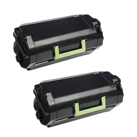 601 Black Remanufactured Toners Twin Pack