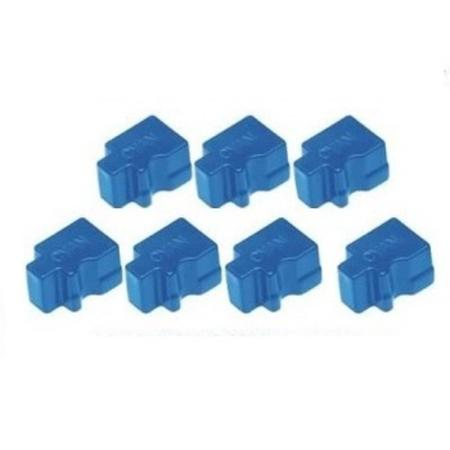 Compatible Cyan Xerox 108R00746 Solid Ink Cartridge - Pack of 7