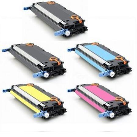 Clickinks Q6470A/Q7581/83A Full Set + 1 EXTRA Black Remanufactured Toner Cartridge